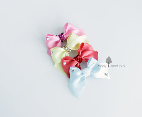 Baby Sequoia My Favorite bow hair clip set