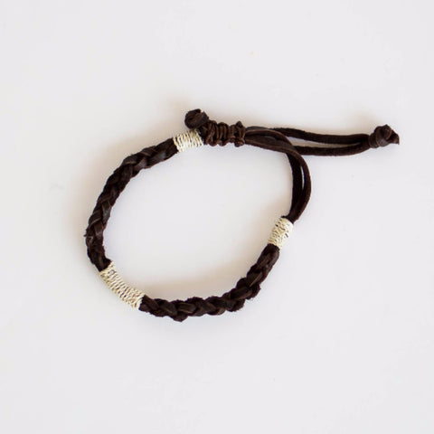 Sisal and Leather Bracelet