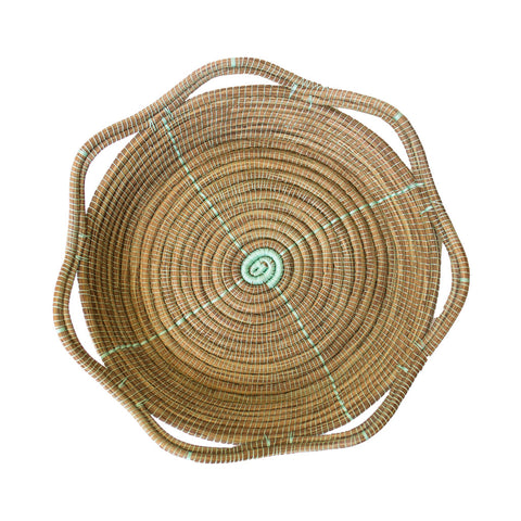 Sea Green Pine Needle Basket