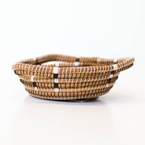 Brown Triangle Mini Pine Needle Basket