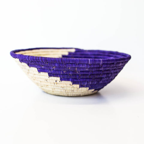 Dark Purple Grass-woven Basket