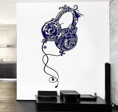 Wall Vinyl Music Headphones Rock Pop Song Guaranteed Quality Decal Unique Gift (z3574)