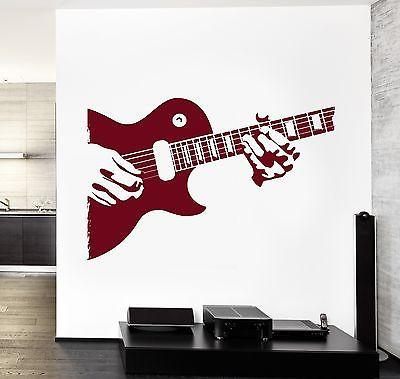 Wall Vinyl Music Guitar Player Rock Star Guaranteed Quality Decal Unique Gift (z3520)