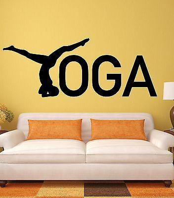 Yoga Wall Stickers Zen Healthy Lifestyle Woman Girl Meditation Vinyl Decal Unique Gift i2442