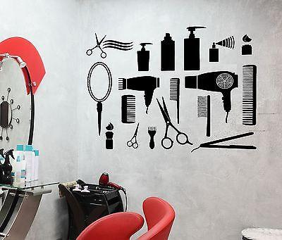 Wall Sticker Vinyl Decal Hair Salon Barbershop Beauty Salon  Cool Decor (z2476)