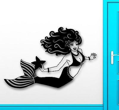 Wall Sticker Vinyl Decal Beautiful Mermaid for Kids Baby Room Bathroom Unique Gift (ig2117)