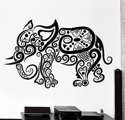 Wall Decal Elephant Africa Animal Ornament Tribal Mural Vinyl Decal Unique Gift (z3197)