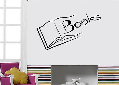 Wall Decal Books Reading Novel Literature Page Library Vinyl Stickers Unique Gift (ed166)