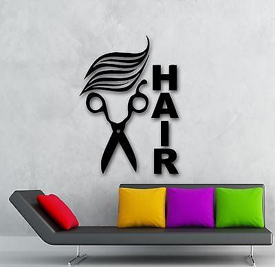 Wall Stickers Vinyl Decal Scissors Hair Hairdresser Sign Barbershop  Unique Gift (ig1720)