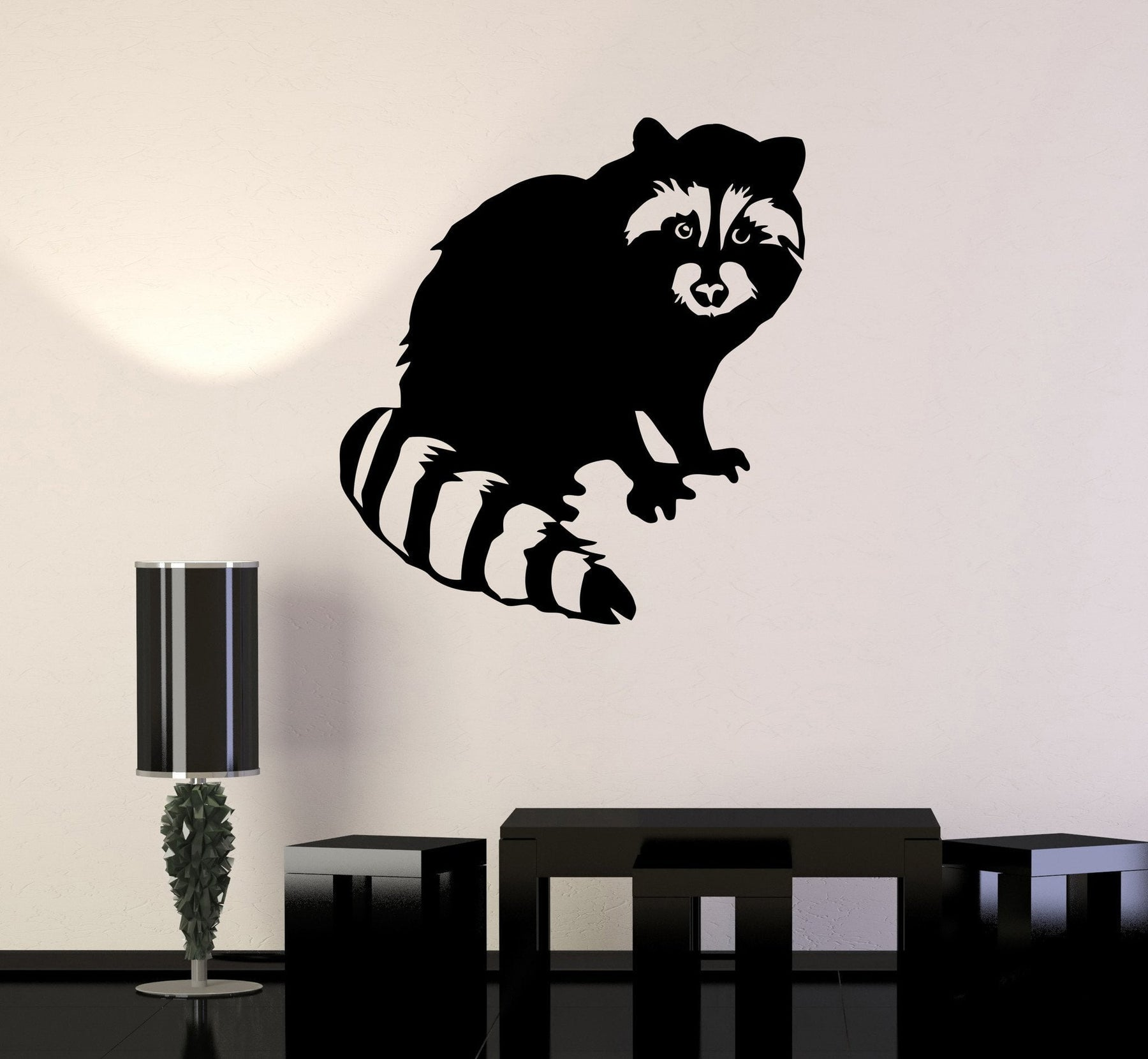 Vinyl Decal Raccoon Cute Animal Children's Room Baby Wall Stickers Unique Gift (ig138)