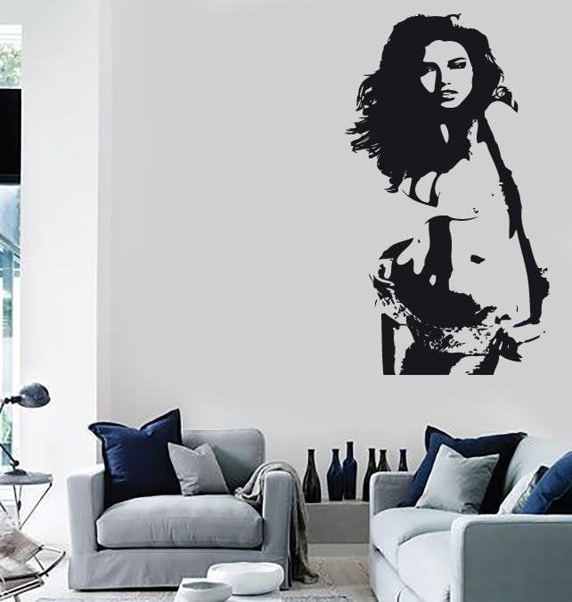 Wall Stickers Vinyl Decal Sexy Girl Silhouette Beautiful Women Unique Gift (ig1712)