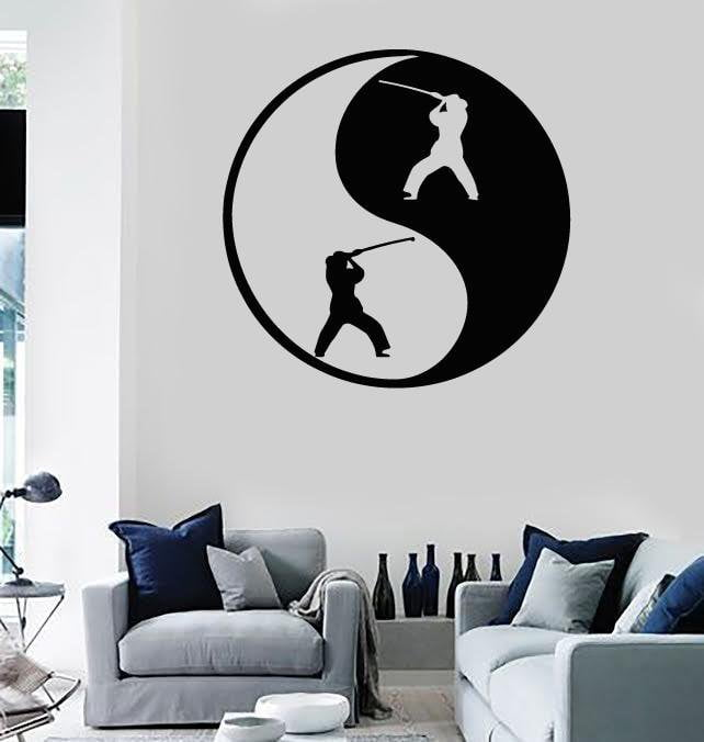 Wall Stickers Vinyl Decal Yin Yan Fight Eastern Philosophy Harmony Unique Gift (ig343)