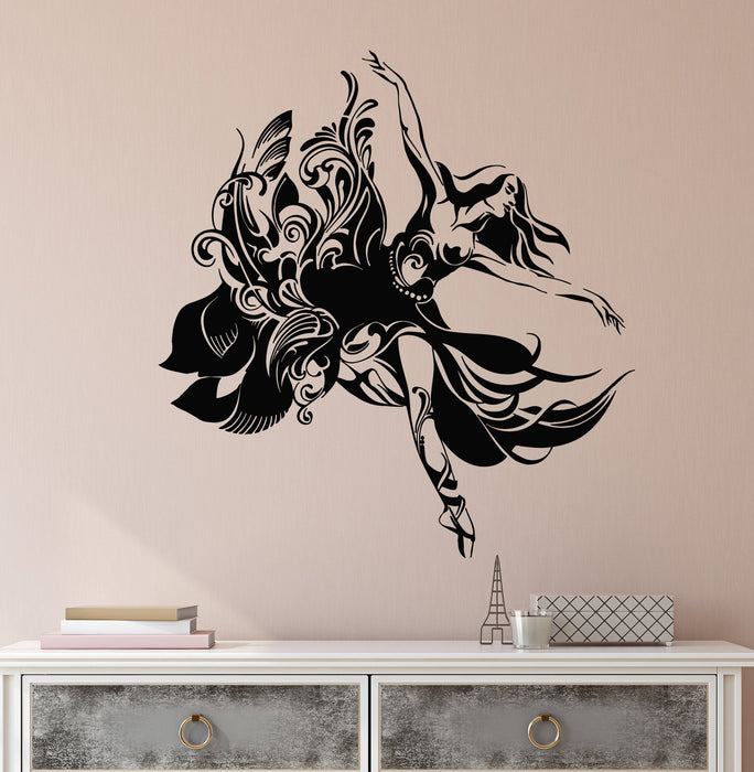 Vinyl Wall Decal Abstract Beautiful Ballet Dancer Ballerina Stickers (2301ig)