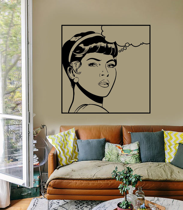 Wall Sticker Sexy Teen Girl Woman Lady Pop Art For Living Room Unique Gift (z2597)