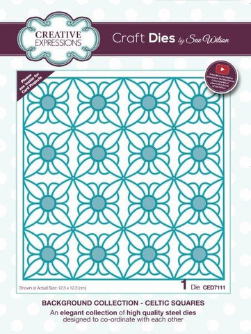 Creative expressions  - Celtic square background die - CED7111