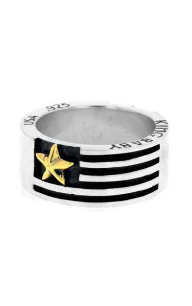 Medium Flag Band with Gold Star