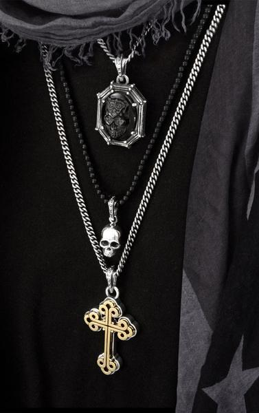 Alloy Traditional Cross in Silver Frame Pendant