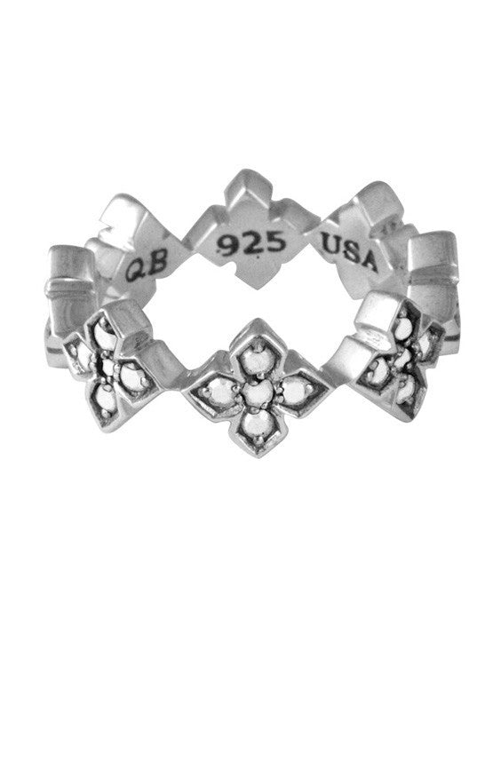 Pave CZ MB Cross Ring