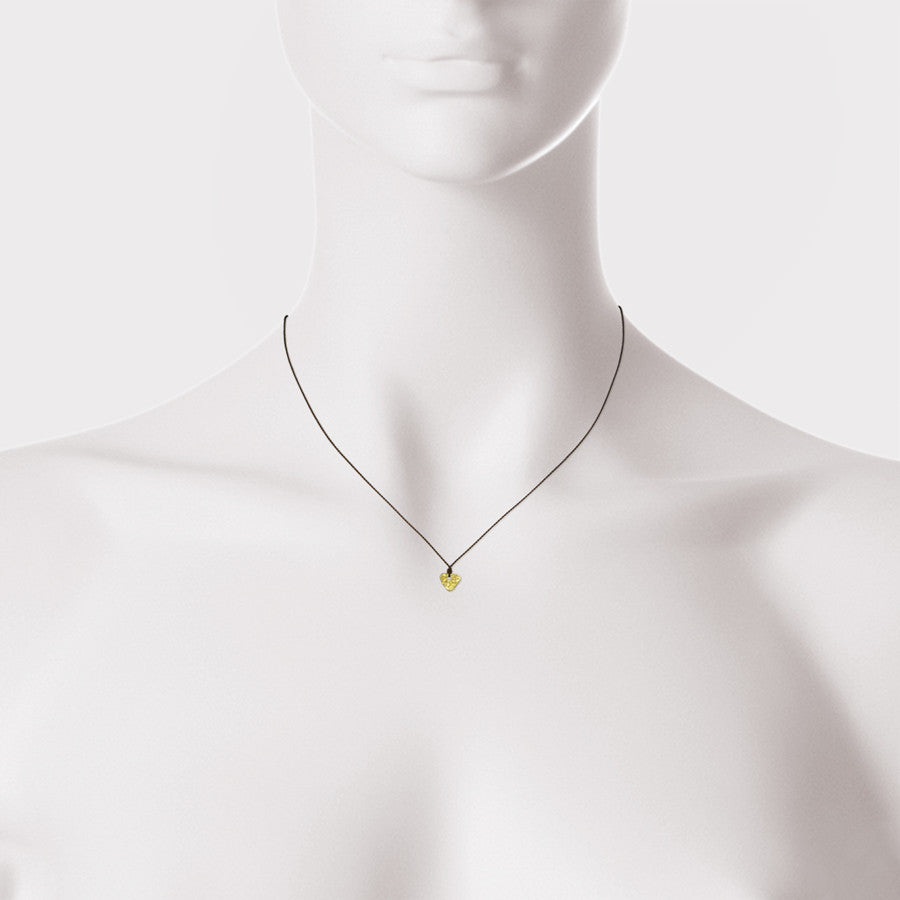 18kt Rough Disc Necklace