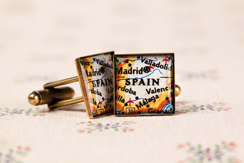 A Day In The Life • Map Cufflinks