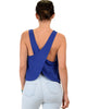 Totally Crossed Out Royal Tank Top - Back Image