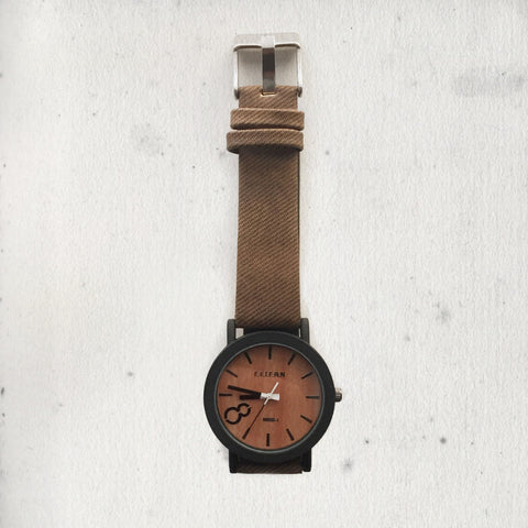 WOODEN BROWN WATCH
