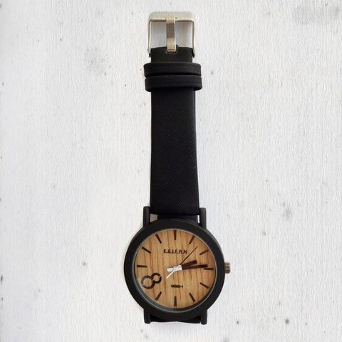 WOODEN BLACK WATCH