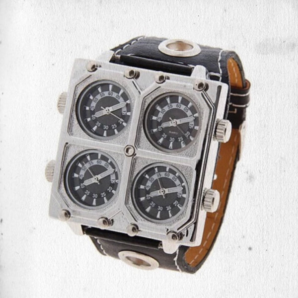 LEATHER VAMBRACE WATCH
