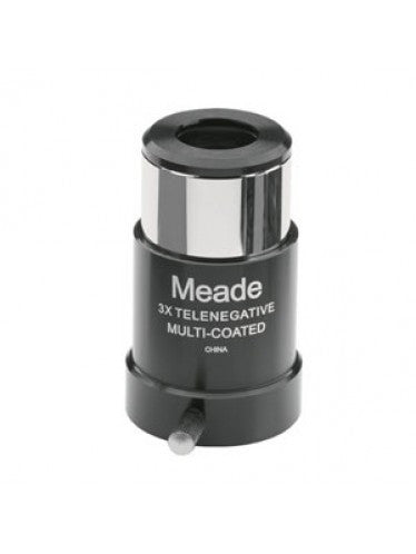 Meade 128 3x 1.25 Inches Barlow Lens - Telescopes - Meade - Helix Camera
