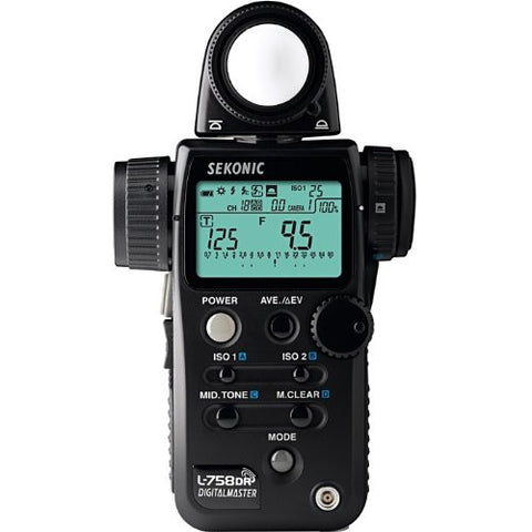 Sekonic L-758DR Light Meter (Black) - Lighting-Studio - Sekonic - Helix Camera