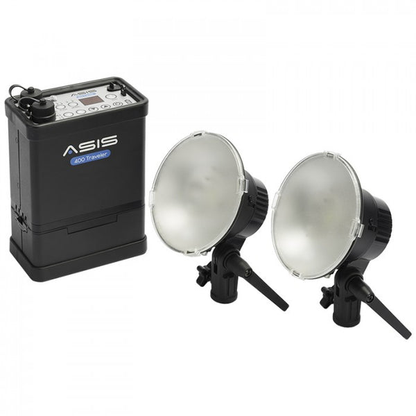 Asis 400 Traveler 2-Light & Li-Ion Battery Kit - Lighting-Studio - Asis - Helix Camera