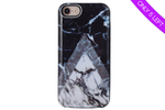 Gray Point Marble Battery Power Phone Case