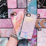 White Holo Marble Battery Power Phone Case