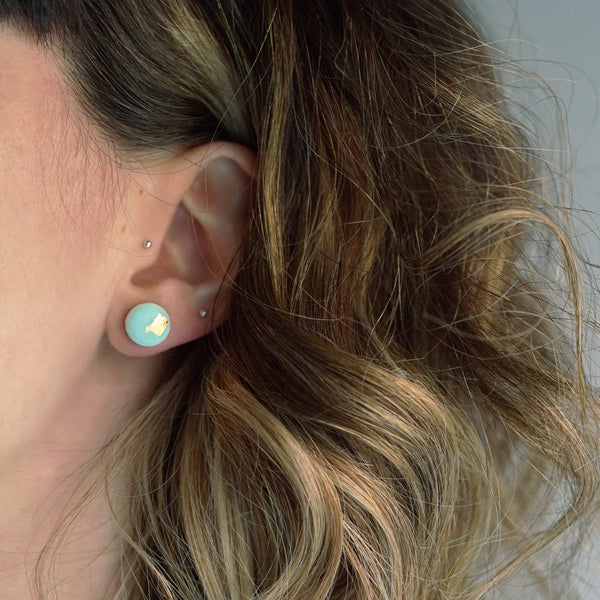 SPARK Dot Scatter Earrings – Powder Blue