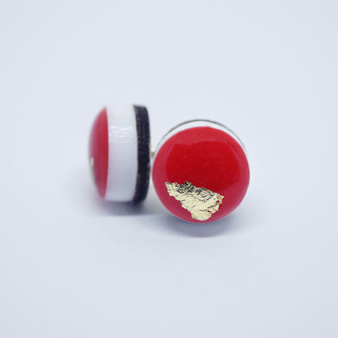 ART Dot Earrings/Red