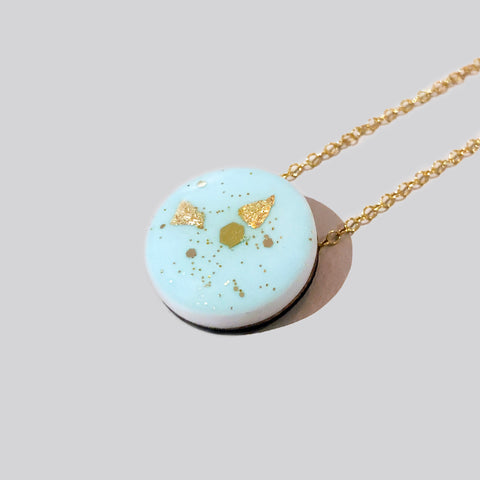 GLINT Dot Scatter Necklace – Pastel Green