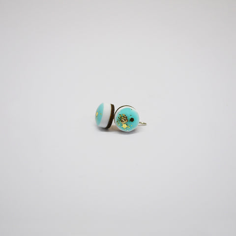 GLINT Tiny Scatter Earrings – Aqua