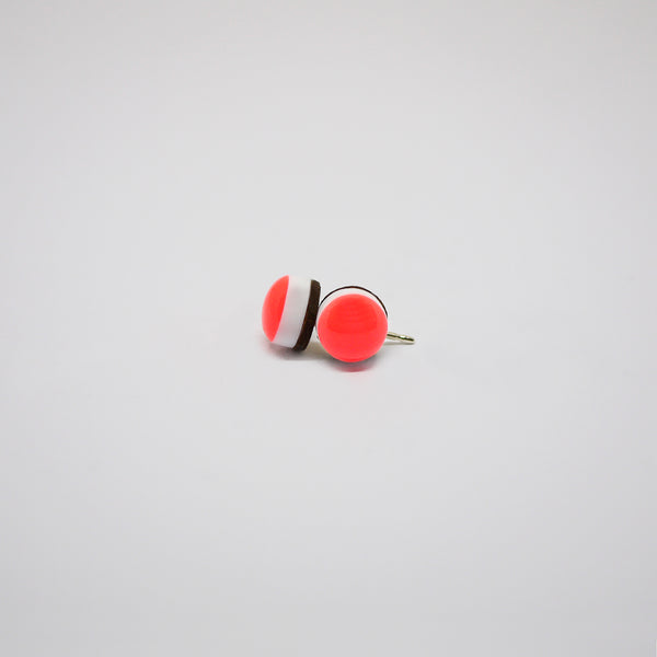 GLINT Tiny Colourburst Earrings – Neon Red