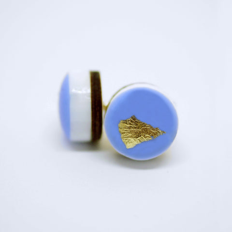 ART Dot Earrings/Blue