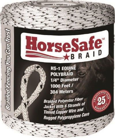 "HorseSafe Fence Braid 1000' 1/4"" Diameter"