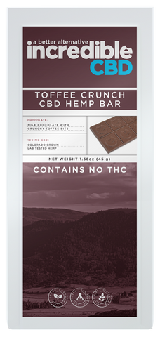 Incredible CBD Toffee Crunch CBD Bar