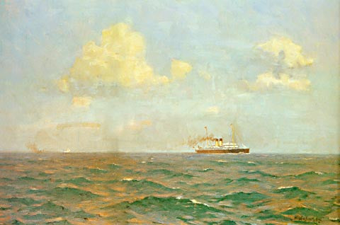 Norman Wilkinson-A Cross Channel Packet Steamship