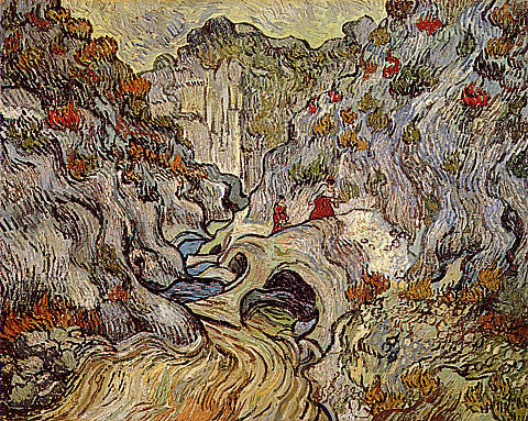 Vincent Van Gogh-A Path Through A Ravine