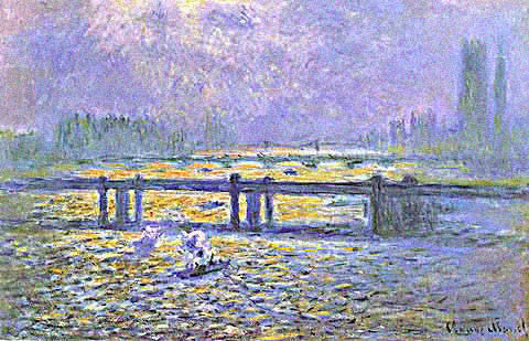 Claude Monet-Charing Cross Bridge Reflections on the Thames