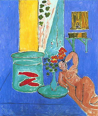 Henri Matisse-Goldfish And Sculpture