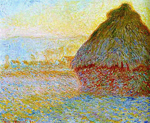 Claude Monet-Grainstack Late Afternoon