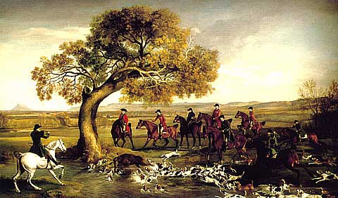 George Stubbs-The Grosvenor Hunt