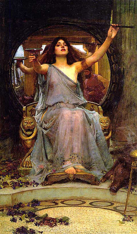 John William Waterhouse-Circe Offering The Cup To Ulysses