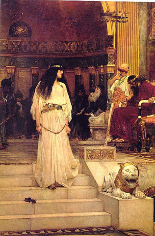 John William Waterhouse-Mariamne Leaving The Judgment Seat Of Herod