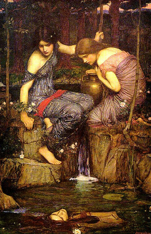 John William Waterhouse-Nymphs Finding The Head Of Orpheus